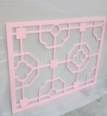 Laser cutting wood screen