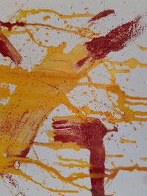 """""""Golden rain I"""", 29 × 29 cm, 2021"""