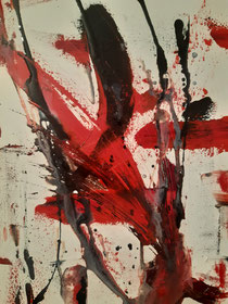 WE in red L, 2020, 30 cm × 40 cm, oil on canvas, Copyright Christina Mitterhuber
