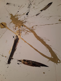 """""""Really?!"""", 2020, Öl, Pigment und Acryl auf Leinwand, 75 cm × 115 cm, Copyright Christina Mitterhuber"""
