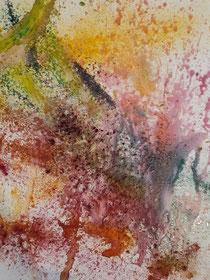 """Frühlingsgefühle"", 2021, 80 cm × 80 cm, oil, pigments and glitter on canvas"