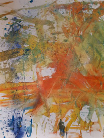"""""""Gold and Silver Melody"""", 2021, 80 cm × 80 cm, oil, pigments and glitter on canvas copyright Christina Mitterhuber"""
