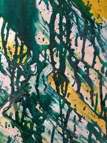 Green Moondance II , 30 cm × 120 cm, 2021