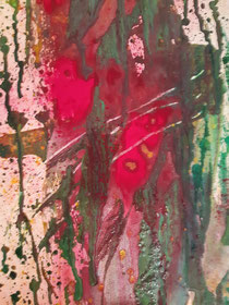 """""""Red forest I"""", 120 × 30 cm, 2021"""