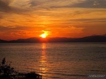 Закат над греческими островами