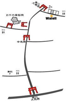 手作り革工房Waioliの地図-2