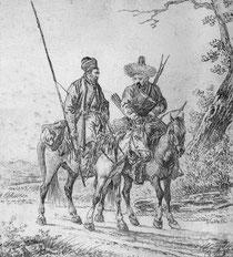 Башкиры. Рис. 19 века.