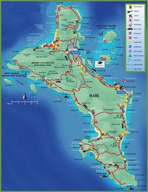 Landkarte von Mahé