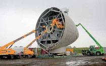 Carènage avant du rotor d'une éolienne de 112 m de diamètre