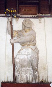 Statue géante du XVIIIe (4,50 m)