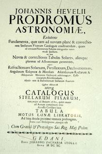 """""""Prodromus Astronomiae"""". (Hevelius, 1690)"""