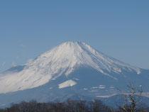 2014/1/2丹沢山山頂から望む富士山