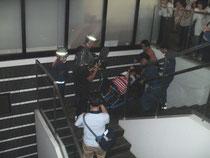 災害時要援護者搬送訓練