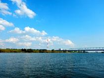 江戸川と北総線鉄橋