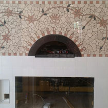 Mosaico in marmo realizzato a mano