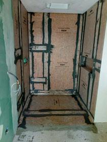 Isolamento interno doccia