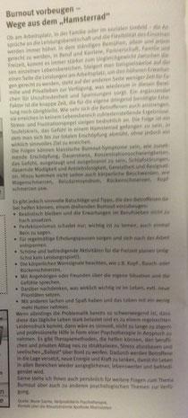 "Burnout vorbeugen – Wege aus dem ""Hamsterrad"""