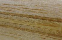 230 Schichtaufbau 3x Abachi, Decklage Kastanie, Griffmaterial Balsa hart