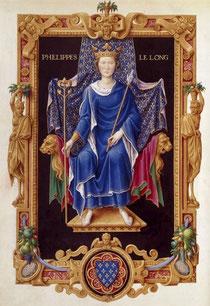 Philippe IV le Bel d'après le Recueil des rois de France de Jean du Tillet, xvie siècle. (Bibliothèque Nationale de France)