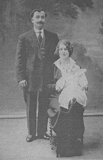 Moïse, Georgette et Roland bébé.