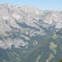 Blick auf Hochschwab und Trawiestal / Foto: Michael Geißler