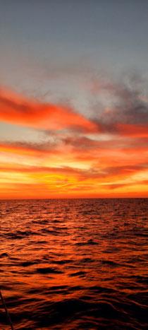 Sonnenuntergang Richtung lanzarote