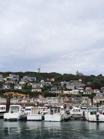 Aussicht vom Hafen in Fecamp