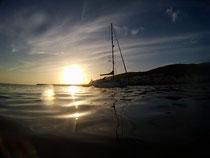 Sonnenuntergang ankern Gran Tarajal