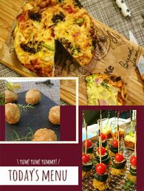 上記写真3種に➕2種のカフェ風お惣菜付き☕