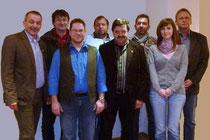Von links: Achim Lampe, Matthias Seipelt, Marcus Pohlmann, Jens Lachstädter, Hartmut Oehlsen, Achim Eggert, Katharina Brömsen, Detlef Hildebrandt