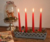 Zink Kerzenhalter Greengate, Vintage Christmas