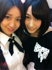 ひらりーと大島優子の2ショット