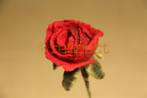 gefilzte rose