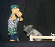 Klaas entdeckt das Schwein.