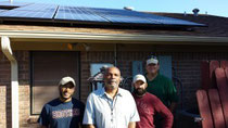the Solar cenTex veterans in Killeen with a veteran / customer