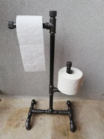 Vintage Papierhalter WC freistehender Toilettenpapierhalter Rollenhalter ohne Schrauben Design WC Papierabroller