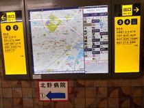 改札手前にある地図