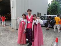 パレードのため韓服を着て@富山