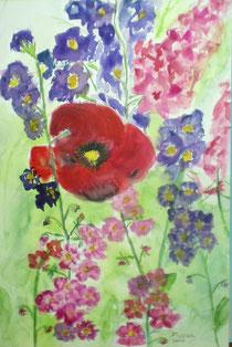 Blumen mit Mohn I