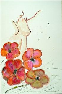 Akt mit Blumen