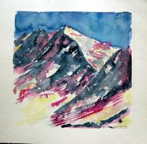 """""""Gebirge"""" mit Schnee"""