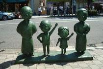 サザエさん一家の銅像