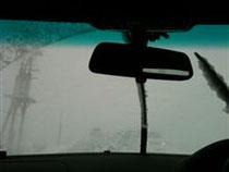吹雪でWhiteOut状態(TOSHIEさん撮影)