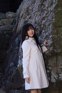 松本城にて