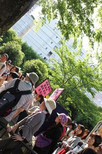 デモの参加者