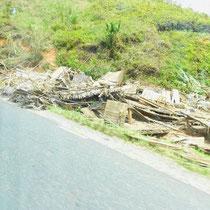 Was nach dem Zyklon übrig blieb.