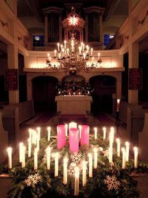 Dobitschener Kirche am 1. Advent