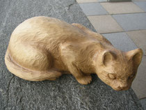 Katze Schnitzerei paul widmer