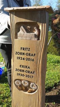 Holzgrabstein Holzgrabmal