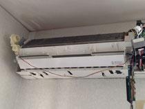 『エアコン徳島空調屋』 徳島県阿波市 お掃除機能付 エアコンクリーニング エアコン分解洗浄
